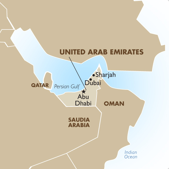 United Arab Emirates Geography and Maps Goway