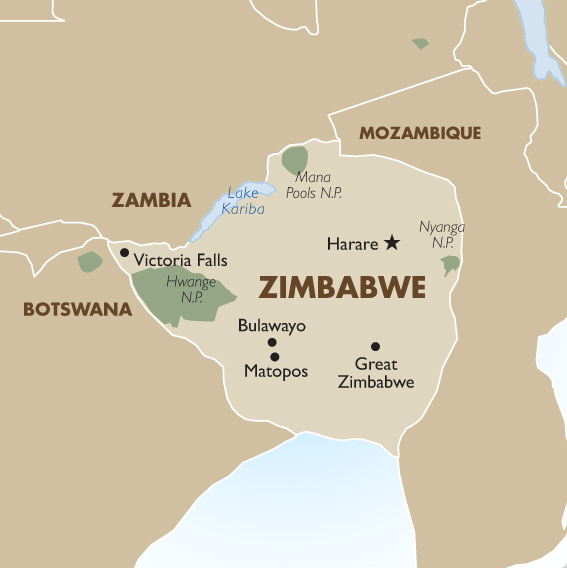 Countries Border Zimbabwe
