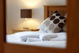 A bedroom at Oriel Gwyr, Rhossili, Gower Peninsula