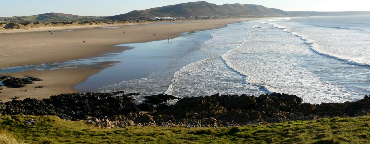 Llangennith Burrows from Burry Holms, Gower