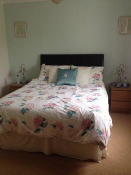 One of the double bedrooms at Hills Court bed and breakfast, Reynoldston, Gower