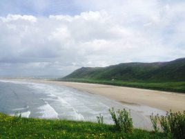 Rhossili Bay within driving distance of Hills Court bed and breakfast, Reynoldston, Gower