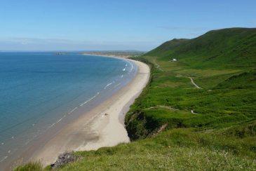 Rhossili Bay, Gower Peninsula, June 2010, named best beach in the UK