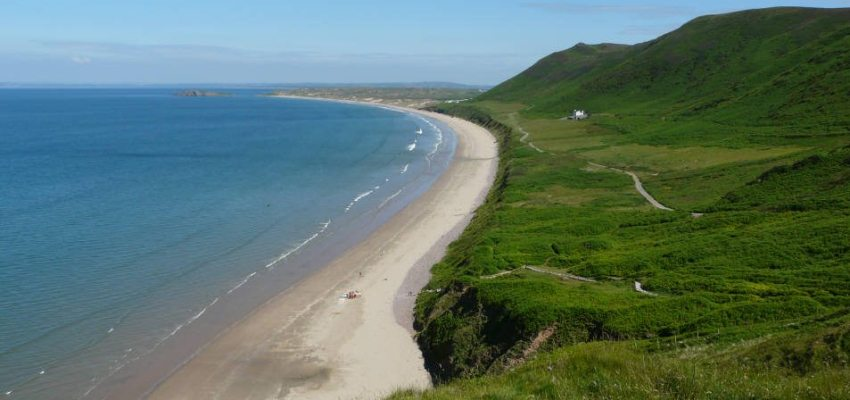 Rhossili Bay, Gower Peninsula, June 2010, named best beach in the UK