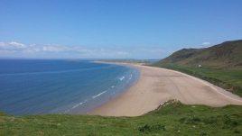 Rhossili beach a short walk from Sunnyside, Rhossili, Gower