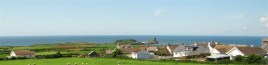 Rhossili Village from Sunnyside self-catering cottage, Rhossili, Gower