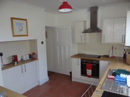 The kitchen at Sunnyside holiday accommodation, Rhossili, Gower Peninsula