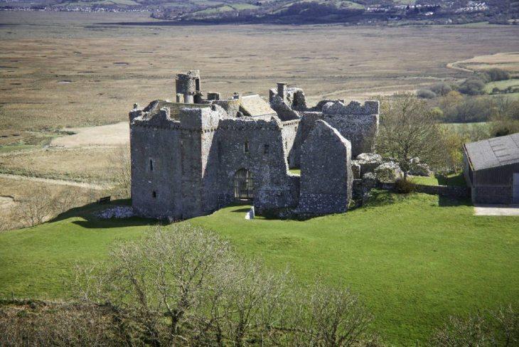 Weobley Castle on the Gower Peninsula, near Swansea