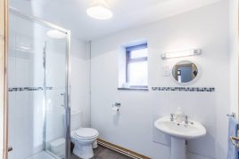 The bathroom at The Tractor House holiday cottage, Llethryd, Gower Peninsula