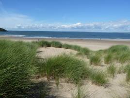 The beach just by Delvid Stables holiday cottage, Llangennith, Gower