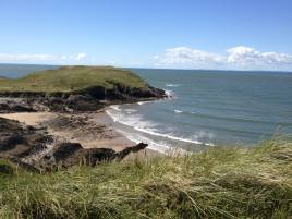 The beach over the Dunes close to Delvid Stables holiday cottage, Llangennith, Gower
