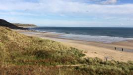 The dunes and beach close to The Hollies self-catering apartment, Horton, Gower