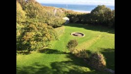 The garden at The Hollies holiday apartment, Horton, Gower