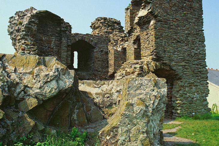 Loughor Castle at Loughor on the edge of the Gower Peninsula