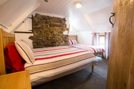 The main bedroom in The Bower Cottage self-catering cottage, Port Eynon, Gower Peninsula