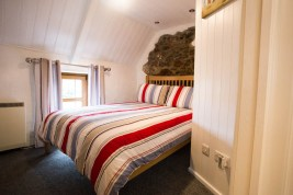 The double bedroom at The Bower Cottage holiday cottage, Port Eynon, Gower