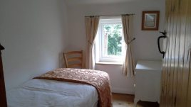The single bedroom at Brook Cottage self-catering accommodation, Reynoldston, Gower Peninsula