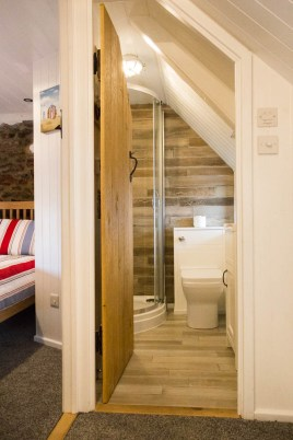 The upstairs shower room at The Bower Cottage self-catering cottage, Port Eynon, Gower