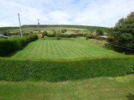 The back garden at Faircroft, Rhossili