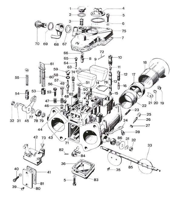 Weber DCOE Spares Page