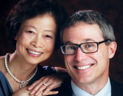 Scott Kramer, pastor at Lakeridge Lutheran, with wife Minjing.