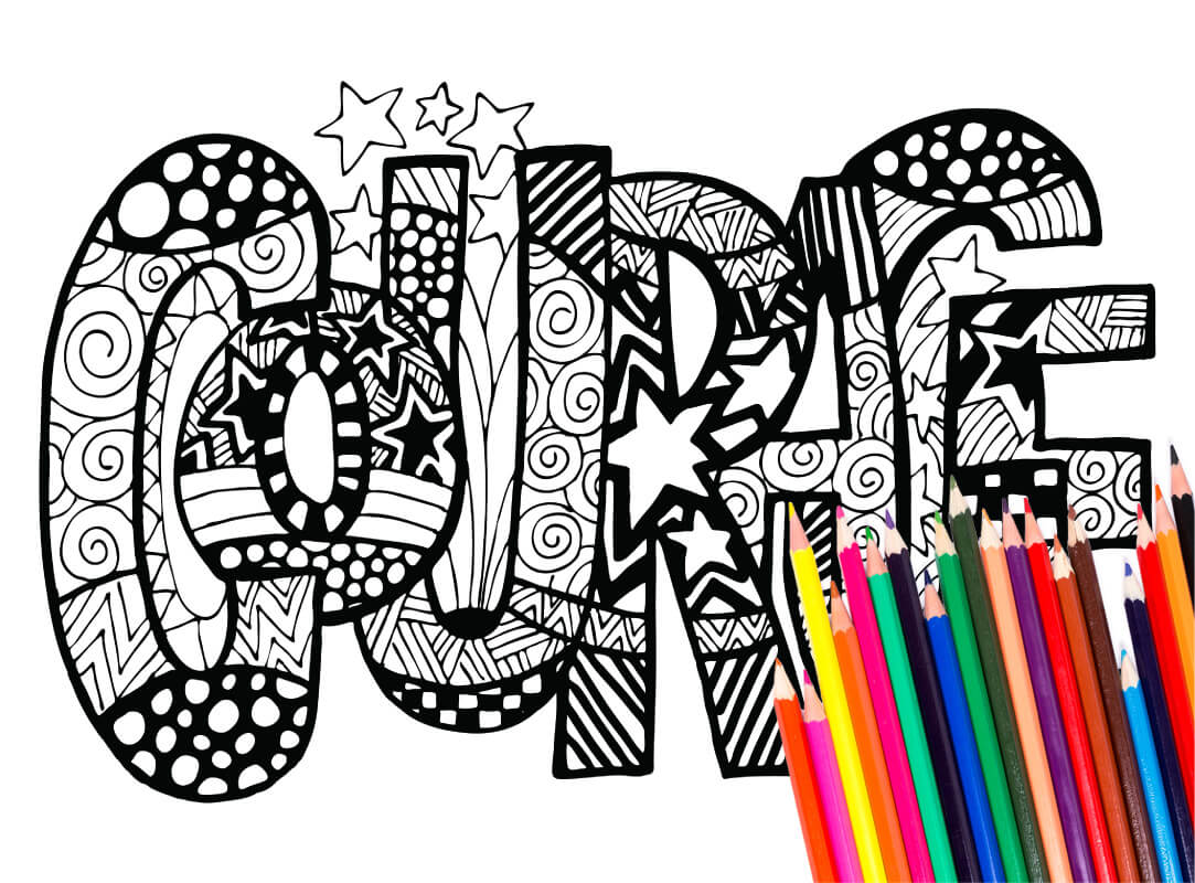 Coloring Pages 42 Inspirational Words Download