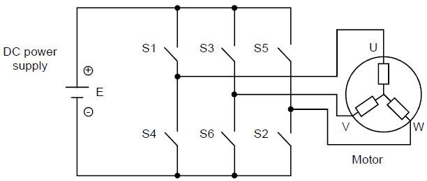 fig 16 3phase inverter basic circuit