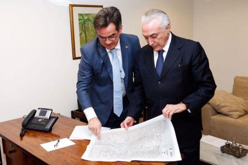 Ciro Nogueira com o presidente Temer