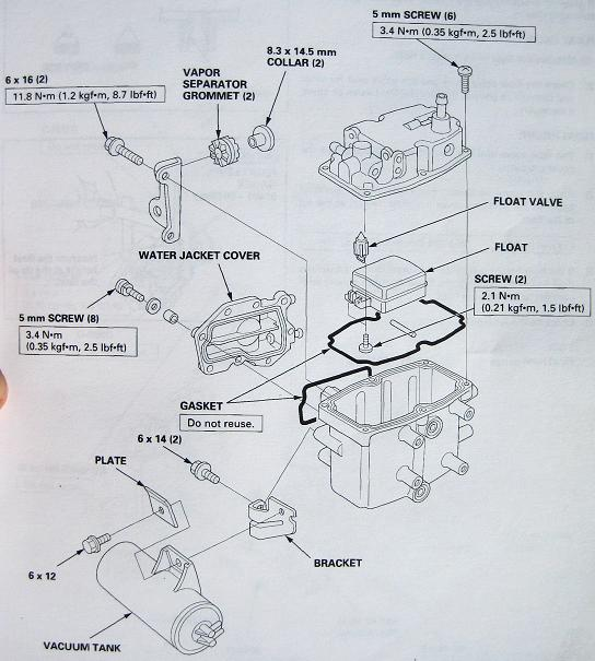 How to change fuel filter on honda outboard
