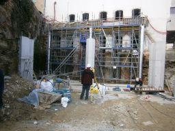 Construction de la structure des vannes