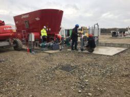 Construction du poste toutes eaux