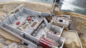Chambres d'eau et plans de grille en construction