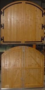 Porte Bois Traditionnelle Sur Mesure Type Grange Avec