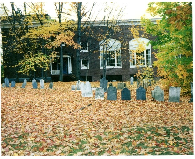 St. Ann's Churchyard and O.C. Woodman School, c. 1990
