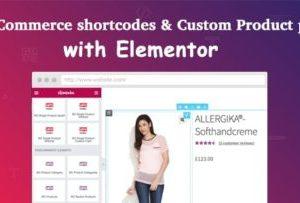 Elementor WooCommerce Shortcodes 1.1.0
