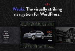 Wauki 1.0 – Fullscreen WordPress Menu