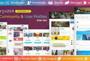 Youzer 2.6.0 – Community & User Profile