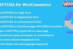 reCAPTCHA for WooCommerce 1.0.14
