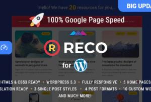 Reco Minimal Theme for Freebies 4.6.2