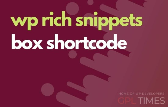 wprich snippets box shortcode