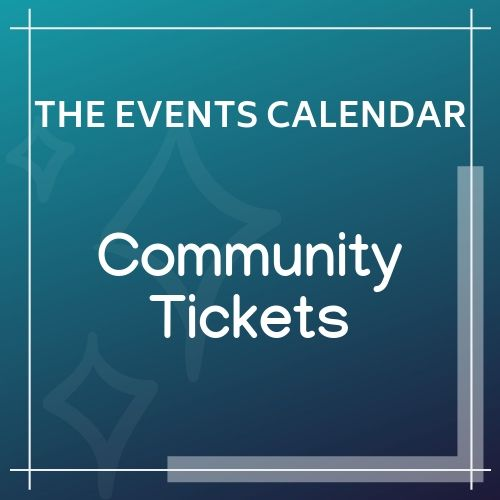 event cal Community Tickets