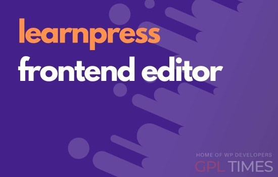learn press frontend editor