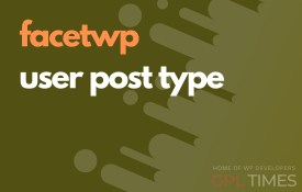 user post type facetwp