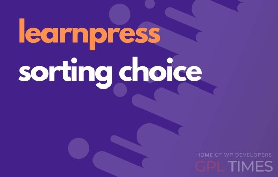 learn press sorting choice