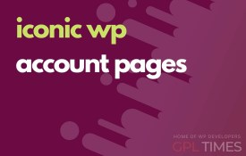 iconic wp account pages