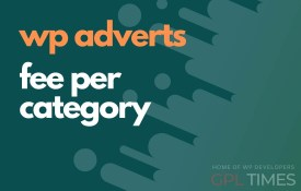 wp adverts fee per category