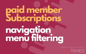 paid member navigation menu filtering