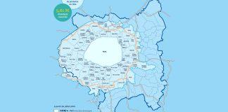 Périmètre de la ZFE définie par la Métropole du Grand Paris