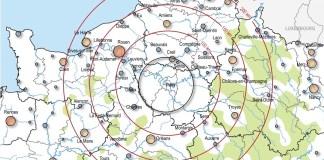 Carte de l'Insee montrant l'organisation de l'armature urbaine de l'espace autour du Grand Paris