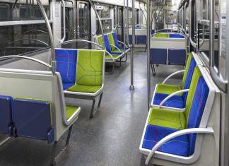 Rame de métro parisien vide